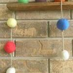 Waldorf Inspired. Wool Ball Garland..