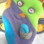 Felted Wool Buddy. Wool Monster Fri..